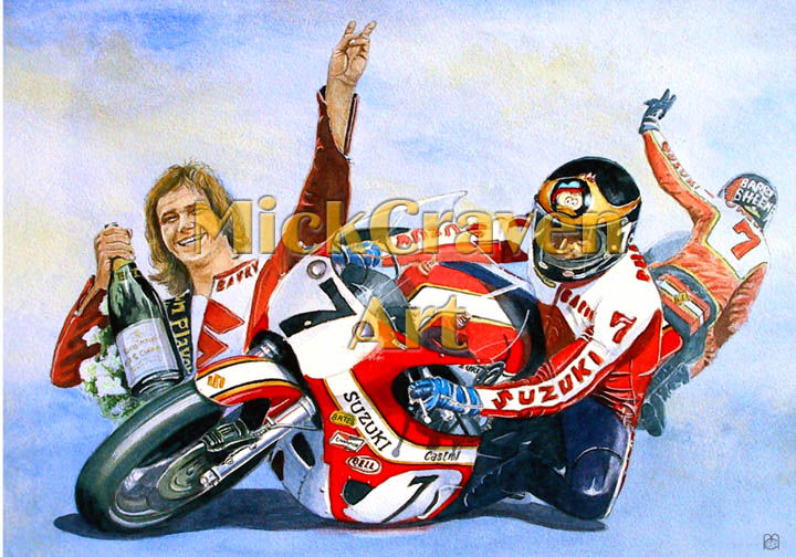 Several images of barry sheene